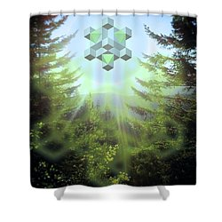 Sacred Forest Event Shower Curtain