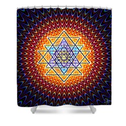 Sacred Geometry 141 Shower Curtain