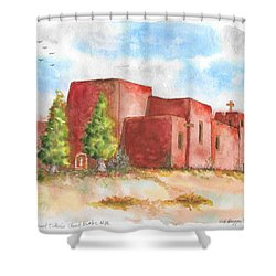 Sacred Heart Catholic Church, Nambe, New Mexico Shower Curtain