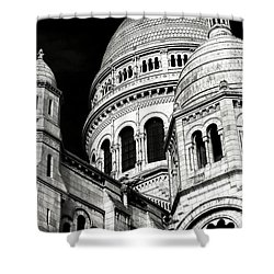 Sacred Heart Details Shower Curtain by John Rizzuto