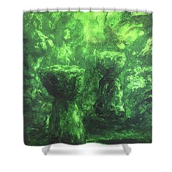 Sacred Latte Stones Shower Curtain