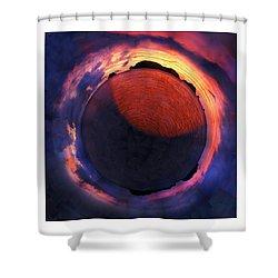 Sacred Planet - Sunset - New Zealand Shower Curtain