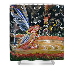 Sacred Pool 2 Shower Curtain