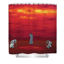 Sacred Pool Shower Curtain by Robert Marquiss