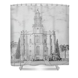 Sacred Steps - St. George Temple Shower Curtain