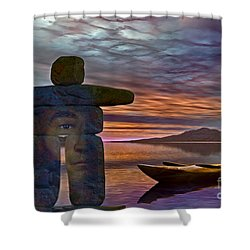 Sacred Stone  Shower Curtain