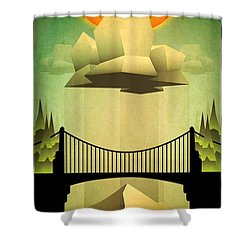 Shower Curtain featuring the mixed media Sacred Sun Shower by Milton Thompson