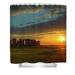 Sacred Sunset Shower Curtain