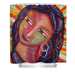 Sacred Traveler, Sacred Healer  Shower Curtain