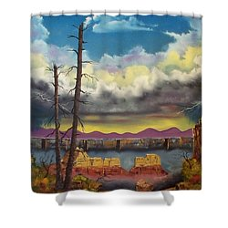 Sacred View Shower Curtain by Patrick Trotter