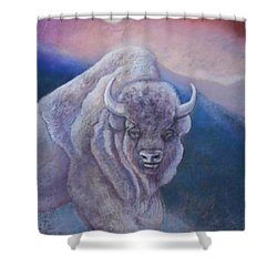 Sacred White Buffalo Shower Curtain
