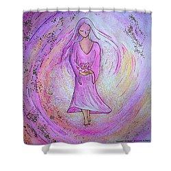 Sacred Woman Shower Curtain by Gioia Albano