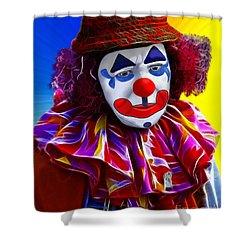 Sad Clown Shower Curtain