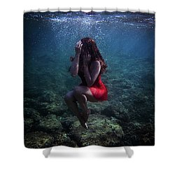 Sad Mermaid Shower Curtain