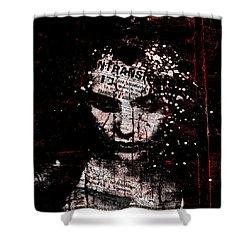 Shower Curtain featuring the digital art Sad News by Marian Voicu