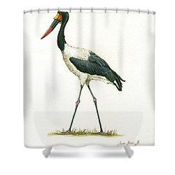 Saddle Billed Stork Shower Curtain