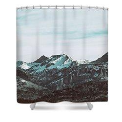 Saddle Mountain Morning Shower Curtain
