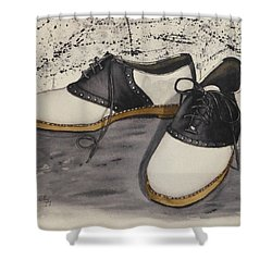 Saddle Shoes Shower Curtain by Kelly Mills