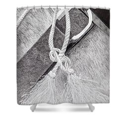 Saddle Strap Shower Curtain