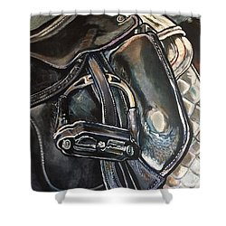Saddle Study Shower Curtain