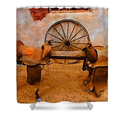 Saddle Town Shower Curtain