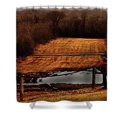Saddle Up Enjoy The View Shower Curtain by Kim Henderson