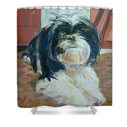 Sadie Shower Curtain by Bryan Bustard