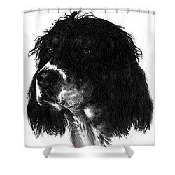 Sadie Shower Curtain by Rachel Christine Nowicki