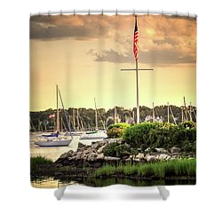 Shower Curtain featuring the photograph Safe Harbor Bristol Ri by Tom Prendergast