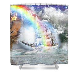 Safe Harbor  Shower Curtain by Dolores Develde