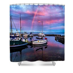 Shower Curtain featuring the photograph Safe Harbor by TL  Mair