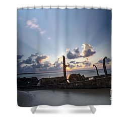 Safe Shore 02 Shower Curtain