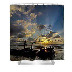 Shower Curtain featuring the photograph Safe Shore 03 by Arik Baltinester