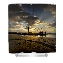 Shower Curtain featuring the photograph Safe Shore 04 by Arik Baltinester