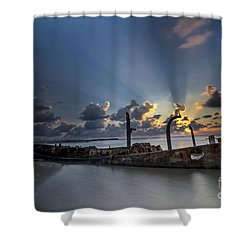 Safe Shore Shower Curtain