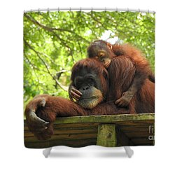 Safe With Mom Shower Curtain