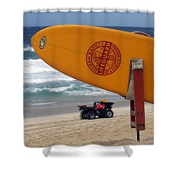 Safety First, Oahu Shower Curtain