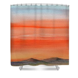 Saffron On The Mountains Shower Curtain