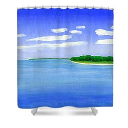 Sag Harbor, Long Island Shower Curtain by Dick Sauer