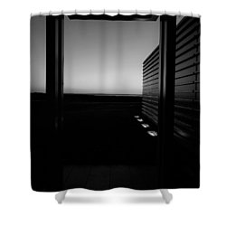 Shower Curtain featuring the photograph Sag Harbor Sunset 2 In Black And White by Rob Hans