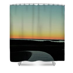 Shower Curtain featuring the photograph Sag Harbor Sunset 3 In Black And White by Rob Hans