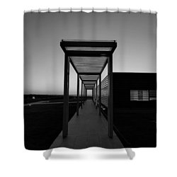 Shower Curtain featuring the photograph Sag Harbor Sunset In Black And White by Rob Hans