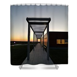 Shower Curtain featuring the photograph Sag Harbor Sunset by Rob Hans