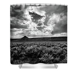 Sage And Clouds Shower Curtain