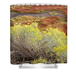 Sagebrush In The Malheur National Wildlife Refuge Shower Curtain