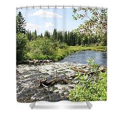 Saginas Lake Shower Curtain