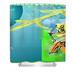 Shower Curtain featuring the digital art Sagittarius by The Art of Alice Terrill