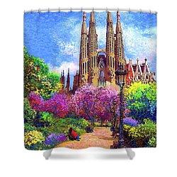Sagrada Familia And Park,barcelona Shower Curtain