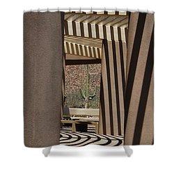Saguaro National Park Shower Curtain by Lois Bryan