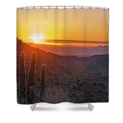Saguaro Sunrise Shower Curtain